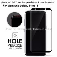 Wholesale 3D Full Cover Tempered Glass Screen Protector 0.33mm 9H Anti Shock Case Friendly for Samsung Galaxy Note 8 from china suppliers