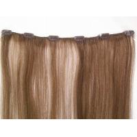 Wholesale Pre - Bonded 4# clip in remy human hair extensions / Full Head Real Human Hair from china suppliers