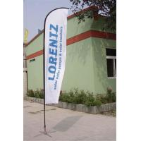 Quality Double / Single Side Printing Outdoor Advertising Sail Banners 100% 110g Polyester for sale
