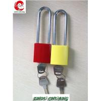 Quality ZC-G62 Long Stainless Shackle, Aluminum Body And Colorful Paint Coating Aluminum Padlocks for sale