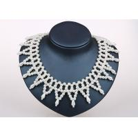 Wholesale Triangle Handmade Simulated Pearl Jewellery Collar Necklace For Anniversary Party from china suppliers