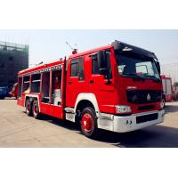 Wholesale Sinotruk Fire Fighting Vehicles , Fire Engine , Red Flame On Road 6X4 / 4X2 from china suppliers