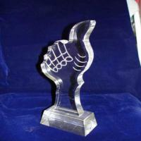 Wholesale Custom Acrylic Award Trophy , Personalized Award Plaques For Employee from china suppliers