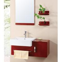Wholesale Newest Solid wood ceramic basin bathroom cabinet from china suppliers