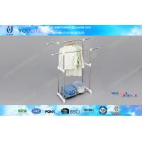 Wholesale Retractable Stainless Steel Clothes Drying Rack , Commercial Clothing Display Racks from china suppliers