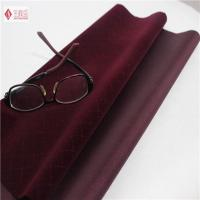 Wholesale Dark Red Nylon Velvet Flocking Fabric , Eco-friendly Flocked Upholstery Fabric from china suppliers