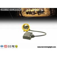 Wholesale Yellow Water Proof Underground Led Miners Cap Lamp 376g 1.67W IP68 from china suppliers