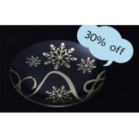 Wholesale BestSeller 24K Gold Foil Glass Plate, Decorative Accessories from china suppliers