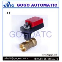 Wholesale 3 Way L Flow Electric Proportional Ball Valve With Manual Override ADC24V CR02 3 wires from china suppliers