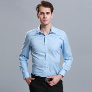 China Spring Fashion Custom Business Shirts / Men Casual Work Long Sleeve Shirts 60% Cotton on sale
