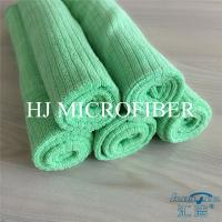 Wholesale Green Color Weft Knitted 80% Polyester 20% Polyamide Small grid shaped cleaning cloth towel from china suppliers