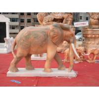 Wholesale Hand carved red elephant animal statue living stone animals from china suppliers