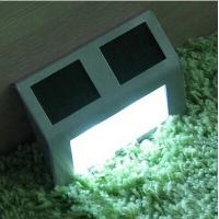 Wholesale Hot Sale 3LED Solar Energy Stair Lamp Light Stainless Steel Shell White Light from china suppliers