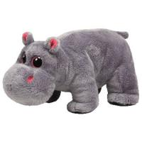 Quality 8 Inch Lovely Hippo Animal Plush Toys Promotion Gifts For Holiday Celebration for sale