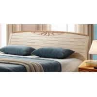 Quality Adults Low Headboard Light Wood Queen Beds , Full Size Wooden Bed Frame With Headboard for sale