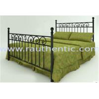 Wholesale Classic Metal Slat Metal Full Size Bed , Iron Pipe Double Metal Bar Beds from china suppliers