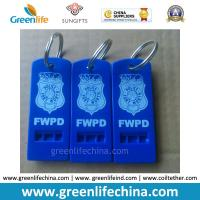 Wholesale Hot Selling Blue Whistle Flat Type w/Custom Logo Imprinting Key Ring from china suppliers