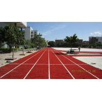 Wholesale 100% PE Synthetic Grass Turf For Running Track , 9000 Dtex 25mm Red Turf from china suppliers