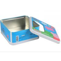 Wholesale PET Window Food Tin Canister Food Grade Tin Square CMYK Printing from china suppliers