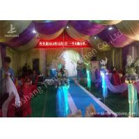 Wholesale Hard Aluminum Skeleton Wedding Reception Tents Purple And White Lining Designed from china suppliers