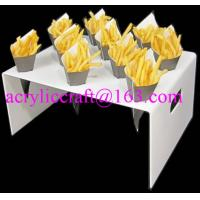 Wholesale 10 holes table top customized manufacturing acrylic french fries cone holder from china suppliers