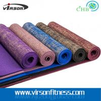 Wholesale Virson New style hot sale eco friendly PVC jute yoga mat from china suppliers