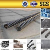 Wholesale 12.7mm unbonded pc steel strand prestressed concrete steel strand floor slab wire from china suppliers