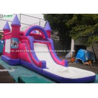 Wholesale Children Pink Jump And Slide Inflatables , Pool Slide Frozen Jumping Castles  from china suppliers