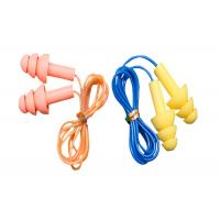 Wholesale 3.1g / Pair Tree Shape Sound Proof Ear Plug Silicone With Plastic Cord from china suppliers