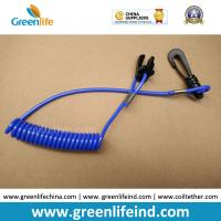 Wholesale Blue Expanding Coil-style Jet Ski Safety Spring Leash w/J-hook&Stop Switch Tool from china suppliers