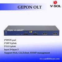 Wholesale 2 PON OLT EPON networking equipment with layer 2 and layer 3 route function 2 ports EPON OLT from china suppliers