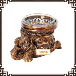 Buy cheap creative resin animal antique elephant ashtray New Type poly resin ashtray DA0339GE from wholesalers