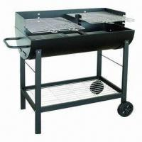 Buy cheap Trolley Barrel/Bucket BBQ Grill, Sized 91 x 42 x 90cm from wholesalers