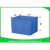 Wholesale Rectangle Folding  Plastic Storage Trays Long Service Life 545 * 420 * 380mm from china suppliers