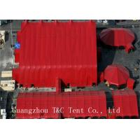 Red Color Wedding Event Tents Light Frame Steel Structure With Sandwich Panel Wall