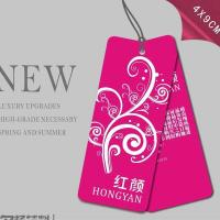 Wholesale Printed Glossy Art Paper Hang Tag For Underwear, Die Cut Art Paper Hang Tags with Punching Hole And String from china suppliers