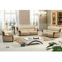 Buy cheap A59 Black Genuine Leather Sofa in Office and Living Room Furniture from wholesalers