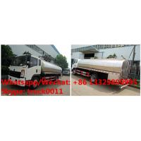 Wholesale SINO TRUK HOWO 4*2 RHD milk tanker truck, 5m3 6000 liters 6m3 stainless steel liquid food transporting vehicle, from china suppliers
