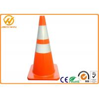 Wholesale Orange PVC Traffic Safety Cones with 2 Reflective Tape 75cm Height 36 * 36 cm Base from china suppliers