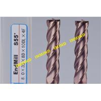 Wholesale 10 mm / 12 mm Metal Cutting Tools Extra Long CNC End Mill 4 Flute With AlTiN Coating from china suppliers