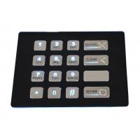 Wholesale 16 keys weather proof industrial black backlit metal numeric USB keypad with dot matrix from china suppliers