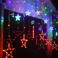 Wholesale Multicolor Star Moon 0.06w Ip44 Icicle Led String Light Decoration For Weddings from china suppliers