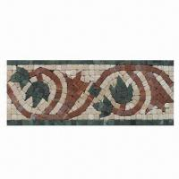 Wholesale Stone Mosaic Border, Ideal for Outdoors/Inner Kitchens and Unit Size of 305 x 120mm from china suppliers