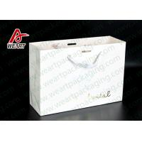 Wholesale Simple Style Custom Printed Bakery Bags , Ribbon Handle Monogrammed Paper Bags from china suppliers