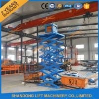 Quality CE 6.65m 500Kgs Electric Scissor Lift Hydraulic Scissor Cargo Lift for Warehouse for sale