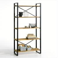 Wholesale Drawing Room Wood Iron Free Standing Magazine Display Racks / Bookshelves DX-K150 from china suppliers