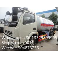 Quality hot sale lpg gas cooking propane delivery truck, 5500L lpg gas transported tank truck for sale
