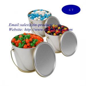 China metal bucket, tin bucket ,  for food tin pail with handle ,metal bucket with handle, Tin pail from Goldentinbox.com on sale