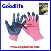 Wholesale 13G Black Seamless Knitted Nitrile Working Gloves/safety gloves/knitted gloves from china suppliers