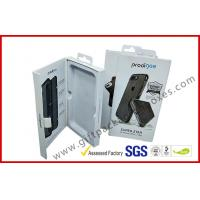Buy cheap Phone case packing box with hanger / magnet electronics packaging box with ribbon from wholesalers